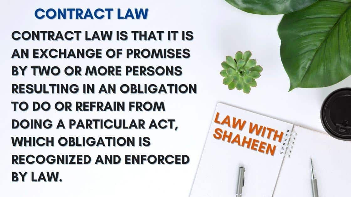 contract law definition