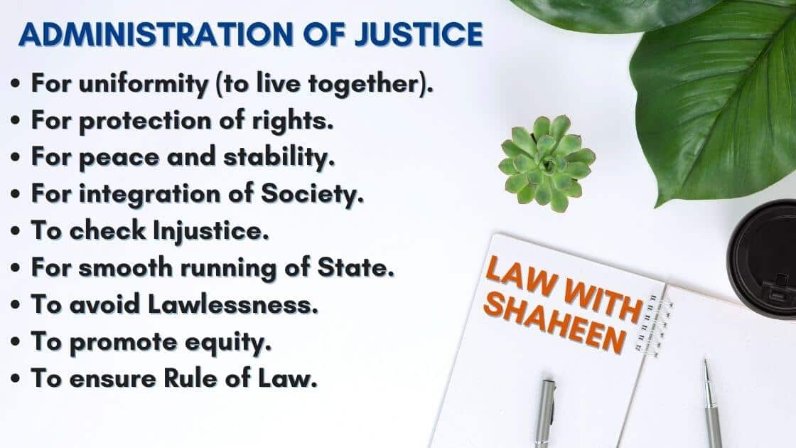 Administration of Justice and its kinds in detail