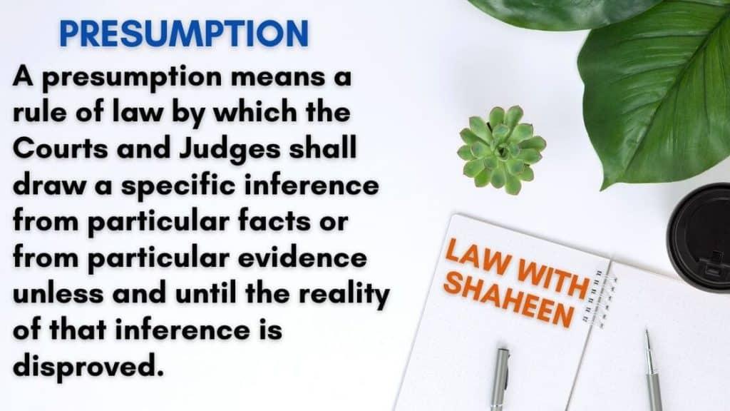 Presumption in detail