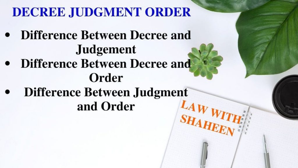 decree judgment order under cpc